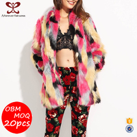 A Forever Fairness Fashion 50% Acrylic fibers 50% Polyester Female Faux Fur Coat