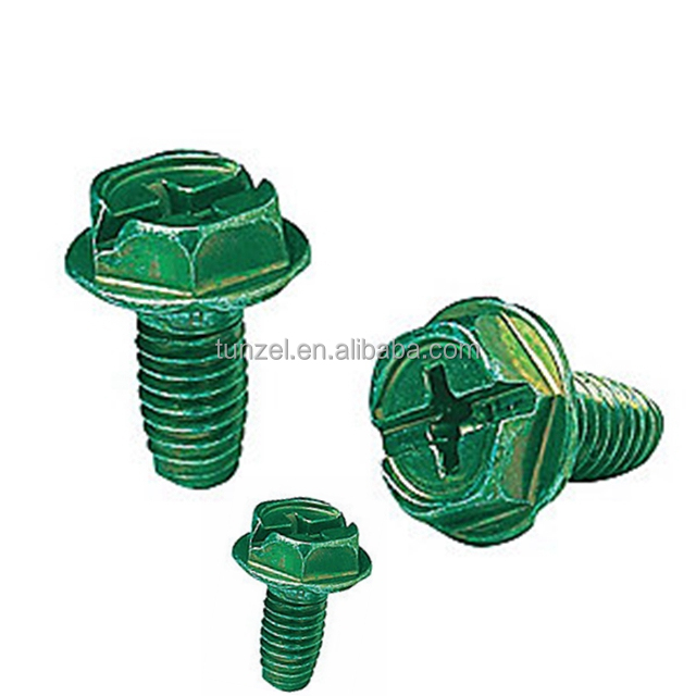 Green type F ground screw by Chinese supplier