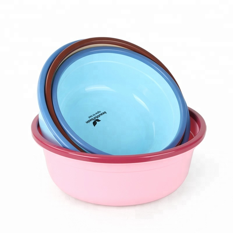 Durable Round Plastic Basin for Bathroom & Kitchen room
