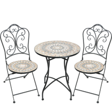 Garden Furniture Mosaic Stone Table and Chair Bistro Set Patio Leisure Furniture