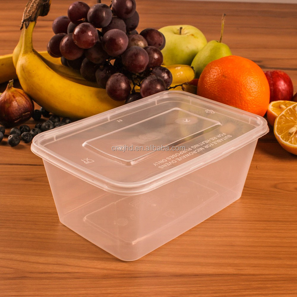 1000ml transparent plastic food container disposable takeaway lunch box hot