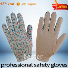 High Performance Pvc Dots Printed Cotton Gloves With Great Low Price