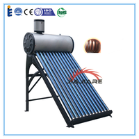 Solar keymark approved pre-heated copper coil solar water heater