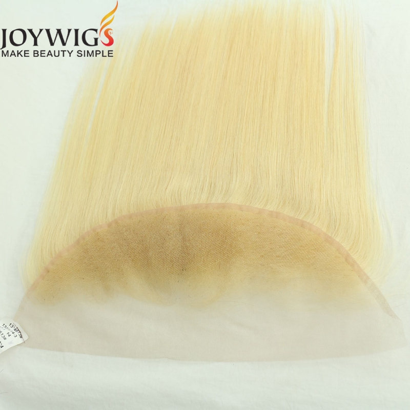 Premium quality ear to ear lace frontal cuticle aligned blonde human hair