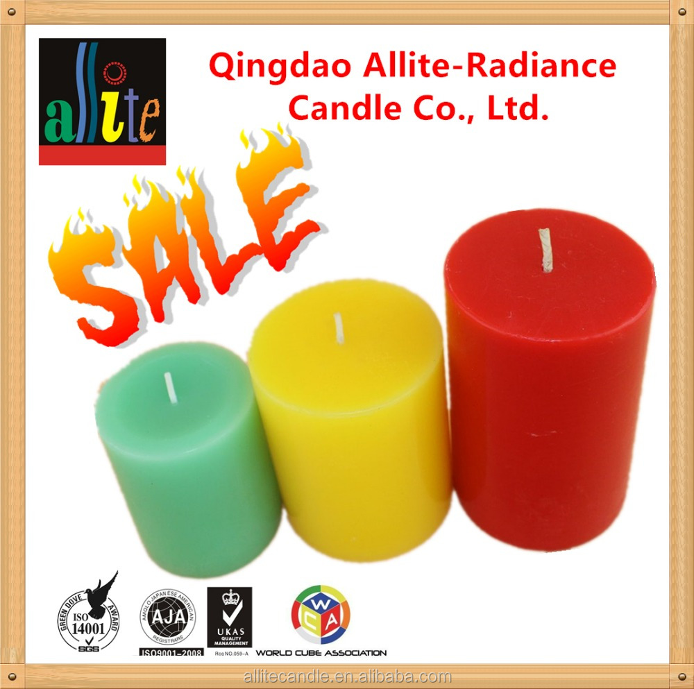 Allite Mutil-color aromatic christmas luxury fancy masonic handmade pillar candle