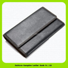 15396 Luxury casual travel long style genuine leather man wallet