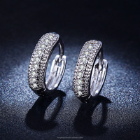 Hoop Earrings For Women earring silver plated cz Diamond wedding Vintage Fashion jewelry HOT crystal wholesale LSE018