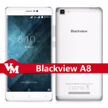 "Original Blackview A8 A8 Mobile Phone 5.0"" 1280*720 IPS Smartphone Android 5.1 MTK6580A Quad Core 8.0MP Dual SIM 3G Cellphone"
