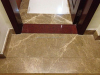 Glazed polished beige marble tile for the lovely home floor design