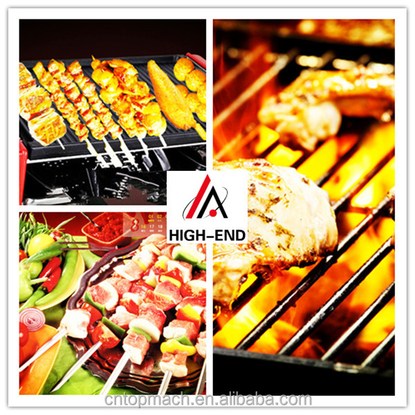 100% Non-Stick PFOA Free competitive price bbq/rotating bbq grill