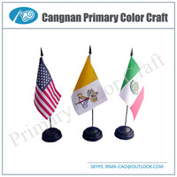 High Quality flag for table table top flags Portable stand flag pole