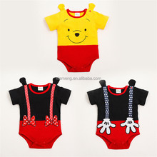 Animal short sleeve romper with cute ear carters baby clothing
