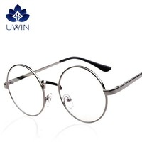 Unisex vintage metal frame round reading glasses