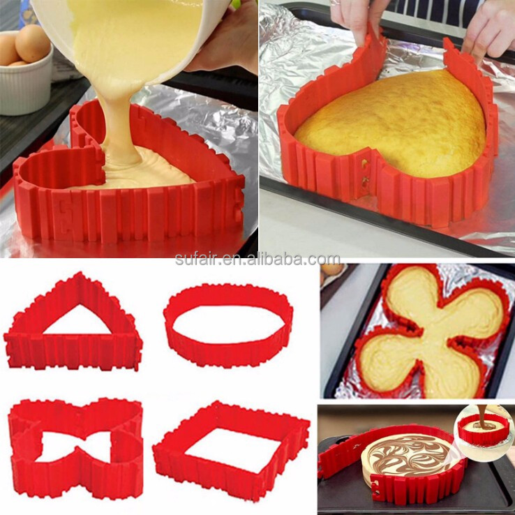 Nonstick bake snake silicone cake mold/Magic Baking Mould
