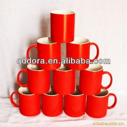 glossy red ceramic mug | glazed ceramic <strong>cup</strong>
