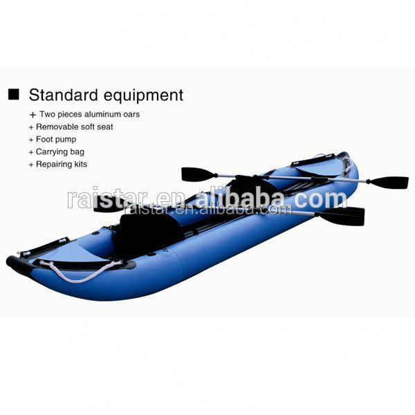2014 China two person rubber dinghy and racing inflatable rubber kayak