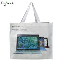 2016 Supermarket Promotional Shopper Bag, Heavy Duty Recycle Foldable PP Laminated Nonwoven Tote Shopping Bag