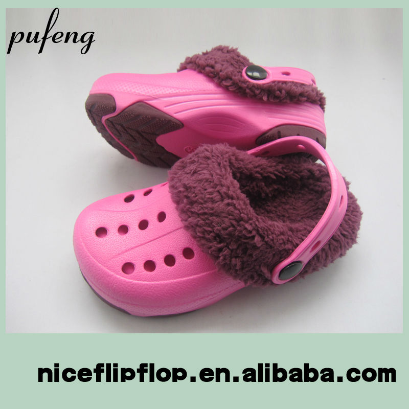 Wholesale comfortable warm clog sandals
