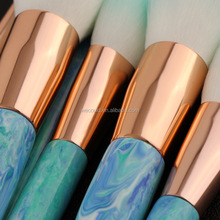 Your Own Brand 10 Piece Marble Makeup Brush Set Kabuki Foundation Makeup Brush