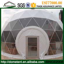 Export Middle East 25m New Design Dome Tents With PVC Frame And Glass Door