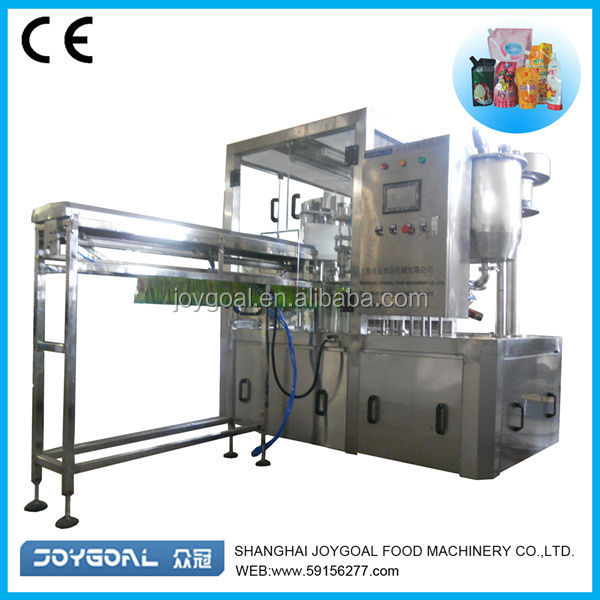 Stand pouch liquid packing machine/water juice drink spout bag filling machine/standing pouch sealing machine
