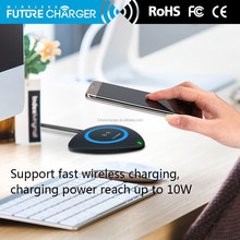 PC Material waterproof solar charger for mobile phone Qi wireless charger