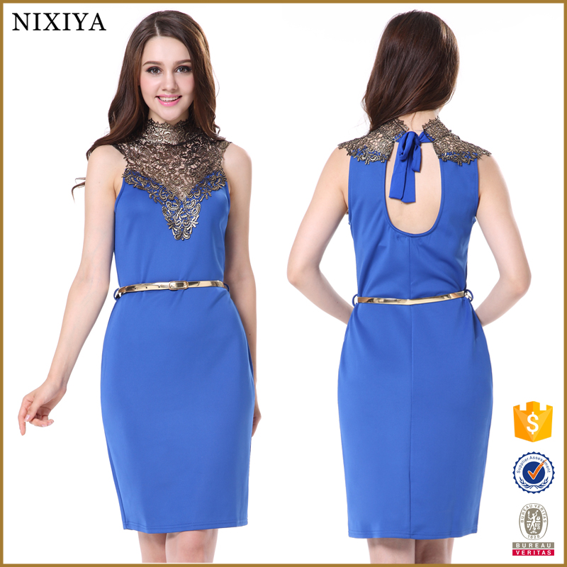 Ladies Fashion Office Wear Female Wears Fashion Knee Length Lady Dress