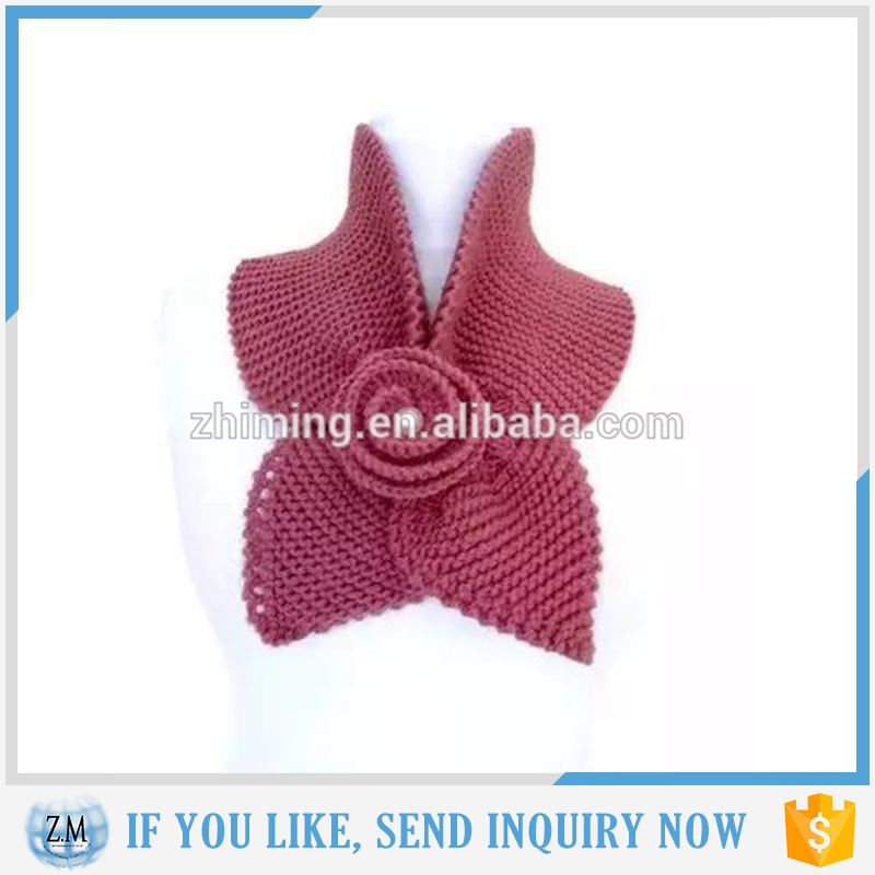 Trendy Bowknot Flower Scarf