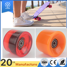 WBD wholesale trasparent colorful skateboard pu caster board wheel