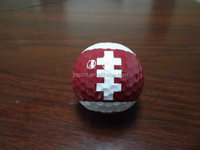 Large cheap china factory whosale rugby shaped sport golf ball