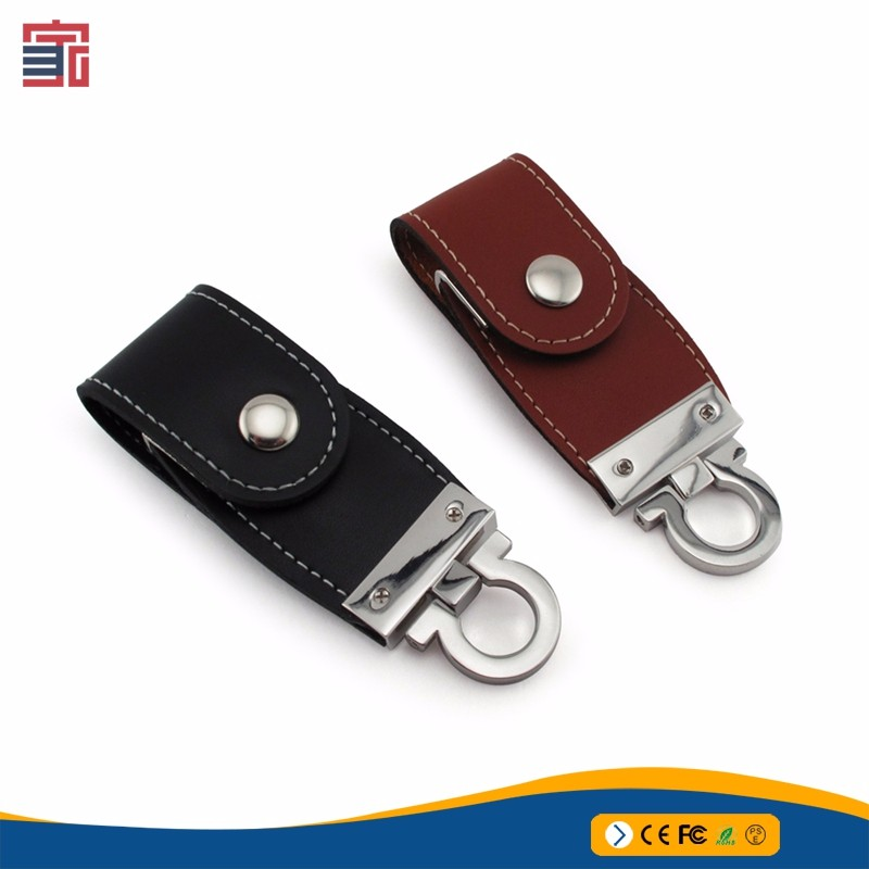 FCC ROHS CE flash drive 8GB memory stick key chain leather usb pendrive