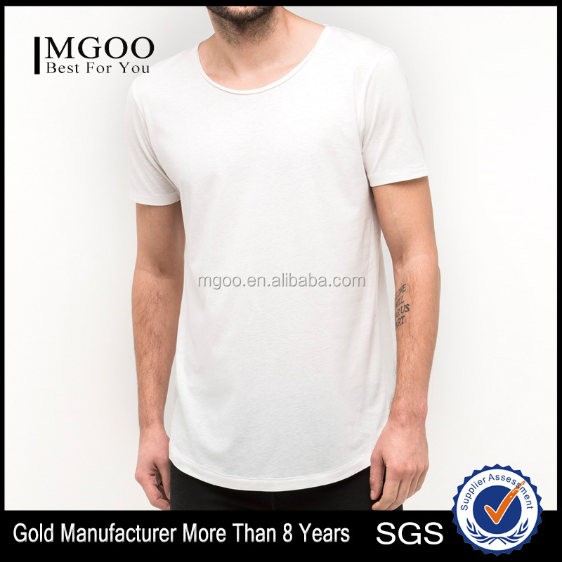 Custom Fresh Loose Summer-Ready Tee Casual Fit Curved Hem Tshirt for Man from Wholesale Promotional Factory