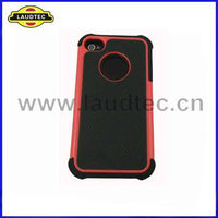 Laudtec Combo Hard Case Silicone+PC Hard Cover Case for Apple iphone 4 4S High quality
