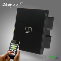 2016 Hot Safe Wifi Remote Wallpad Black Glass Switch 1 Gang 2/3 Way APP Wireless WIFI Remote Touch Control Sensor Light Switch