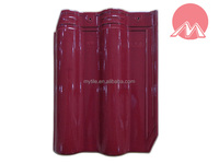 4000 Rose glossy glazed ceramic clay roof tile