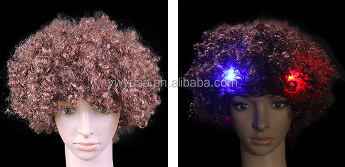 2016 Factory Price LED Clown Wig for party