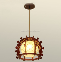 China professional wood single dining room light,decorative unique dining room lighting (0561-1p )