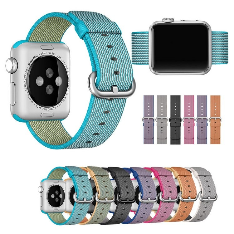 2016 Newest Woven Nylon Strap Band for Apple Watch Classic Bracelet Wrist Band