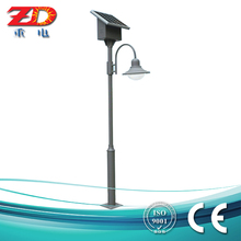 Classical design grey Color Outdoor Solar Power Garden Light with hanging battery box