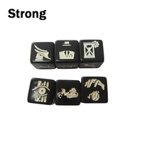 16mm round corner high quality custom logo engraved dice