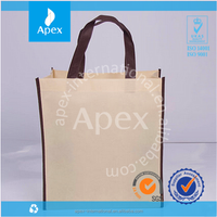 Custom printed recycle and high quality foldable non woven tote bag