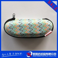 Logo printed perdonalized eyeglasses case hinge