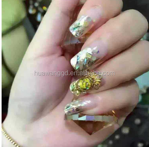 New Top DIY Abolone Nail Natural Shell Nail Art Sticker & Decal Tips 3D Beauty Stickers For Nails