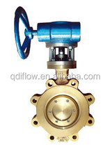 Lug type bronze butterfly valve gear operated