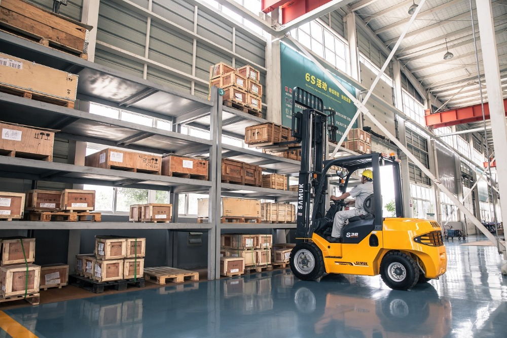 Samuk 3.5ton Gasoline Forklift Truck with Japan engine