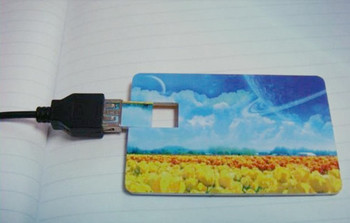 USB 2.0 Credit Card USB Flash Drive With Custom Personalized Logo from factory