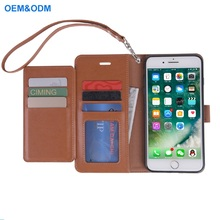 2018 Newest All in One Flip Folio PU Leather Wallet Mobile Phone Case for iPhone 7 Plus With many Money Pockets