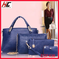 2015 latest Arrival guangzhou lady bag big small bag lady hand bag the 4pcs set Gift bear