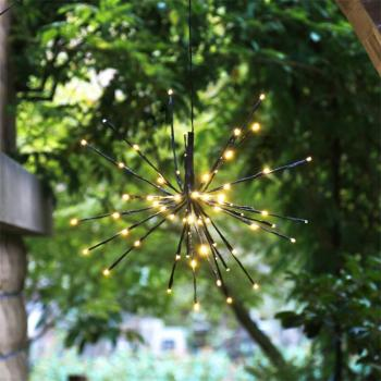 Factory Supply Home Decoration Warm White Lighted Hanging Twig Starburst