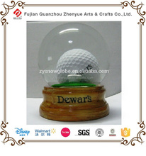 Custom Golf Resin Glass Snow Globe,Funny sports decoration Water ball